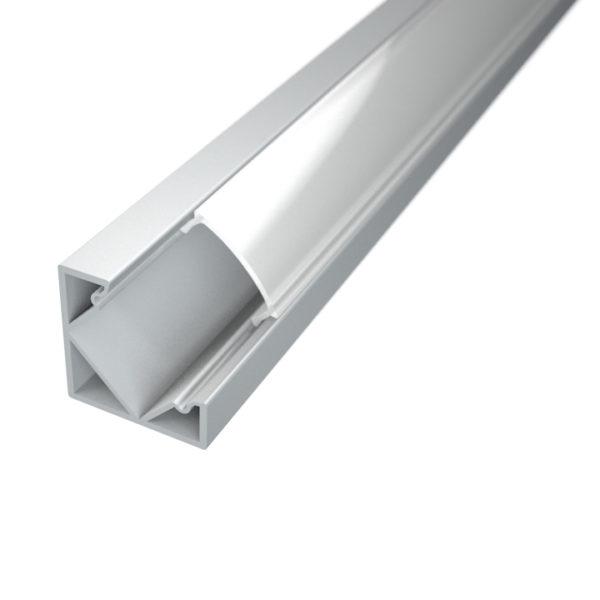 Profil za LED traku kutni 1 + mliječni poklopac