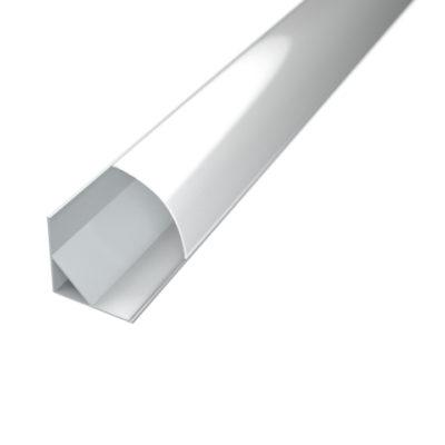 Profil za LED traku kutni 2 + mliječni poklopac