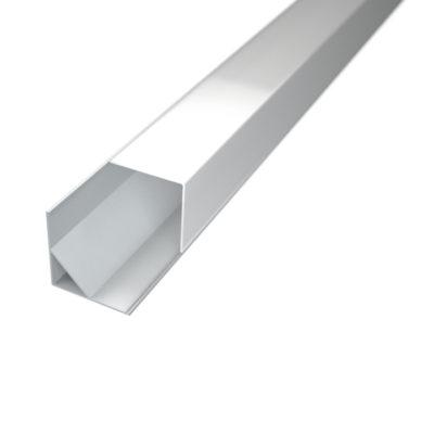 Profil za LED traku kutni 3 + mliječni poklopac