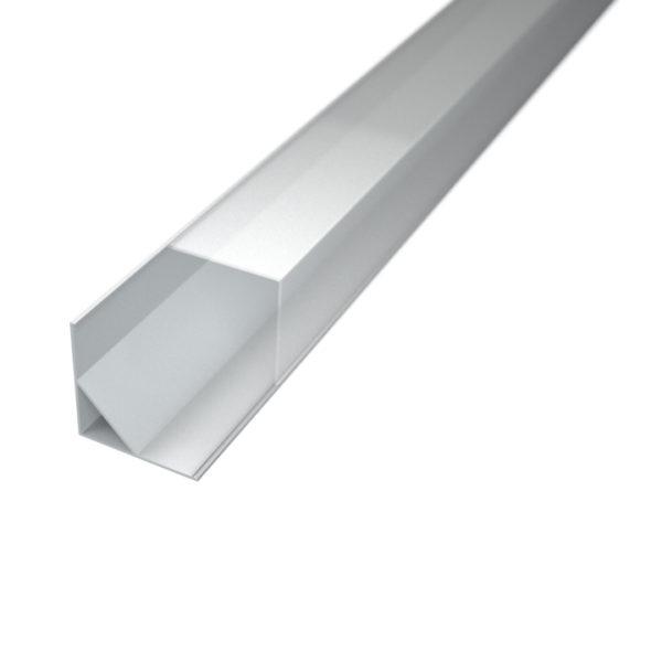 Profil za LED traku kutni 3 + prozirni poklopac