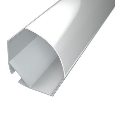Profil za LED traku kutni 4 + mliječni poklopac