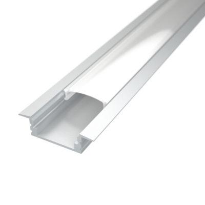 Profil za LED traku ugradni 1 + mliječni poklopac