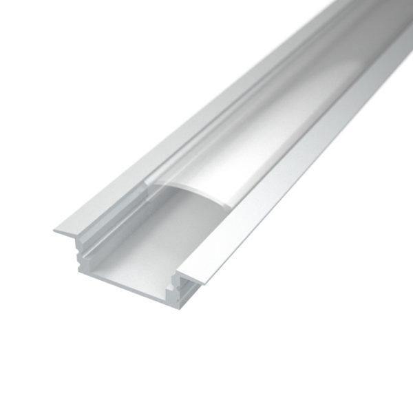 Profil za LED traku ugradni 1 + prozirni poklopac