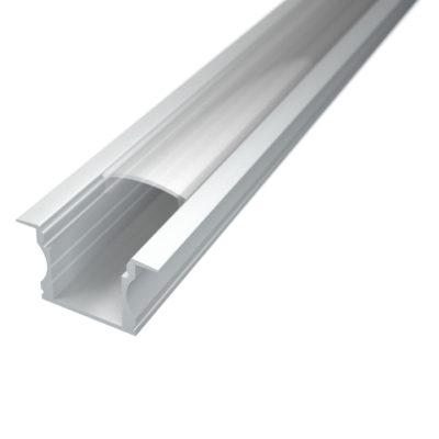Profil za LED traku ugradni 2 + prozirni poklopac, 2m