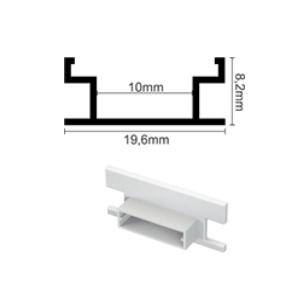 Profil za LED traku podni + mliječni poklopac, 2m