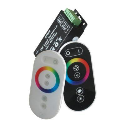 Daljinski upravljač za LED traku RGB 288W 24A RF kontroler - Crni