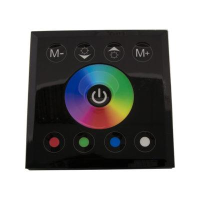 RGB senzor dimmer, zidni crni