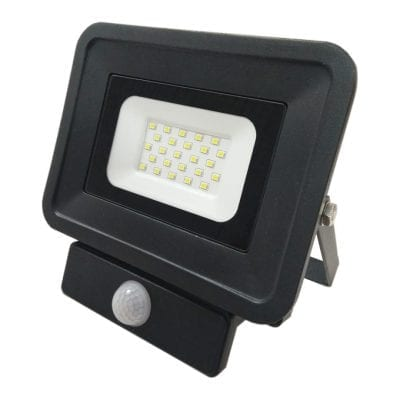 LED reflektor 20W SMD sa senzorom, crni