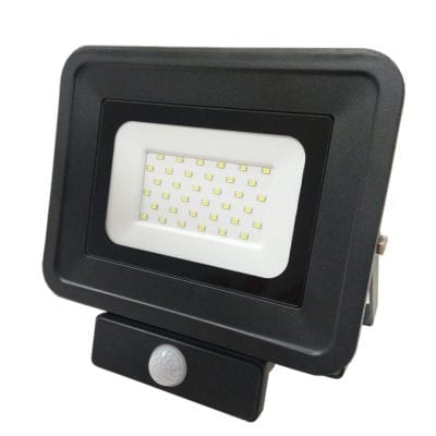LED reflektor 30W SMD sa senzorom, crni