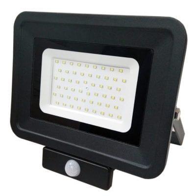 LED reflektor 50W SMD sa senzorom, crni