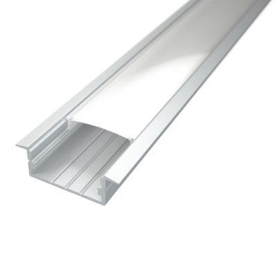 Profil za LED traku ugradni 3 + mliječni poklopac, 2m