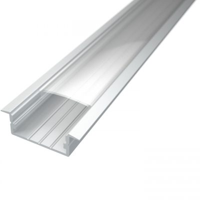 Profil za LED traku ugradni 3 + prozirni poklopac, 2m