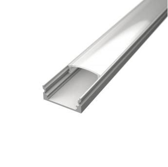 Profil za LED traku nadgradni bijeli + mliječni poklopac, 2m