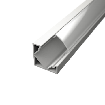 Profil za LED traku kutni bijeli + mliječni poklopac, 2m
