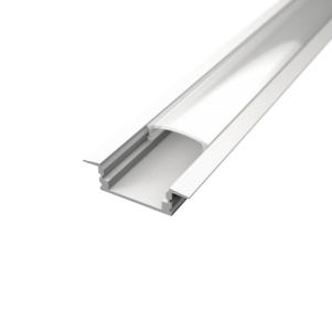 Profil za LED traku ugradni bijeli + mliječni poklopac, 2m