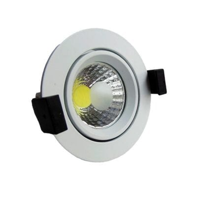LED downlight okrugli 8W COB zakretni - Bijela