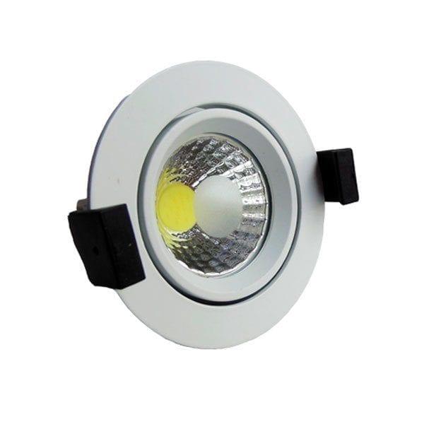 LED downlight okrugli 8W COB zakretni - Bijela