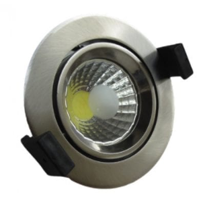 LED downlight okrugli 8W COB zakretni – Inox