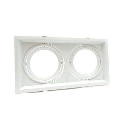 Kućište za 2xAR111 bijelo zakretno