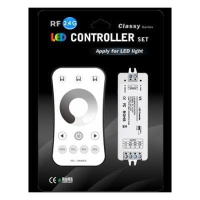 Kontroler i daljinski za jednobojnu LED traku  RF 2.4G 3CH 3*4A V3
