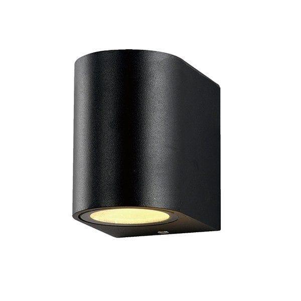 Zidna lampa aluminij crna 1xGU10 IP54