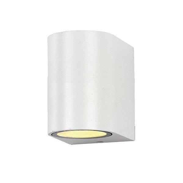 Zidna lampa aluminij bijela 1xGU10 IP54