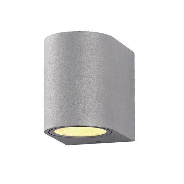 Zidna lampa aluminij siva 1xGU10 IP54