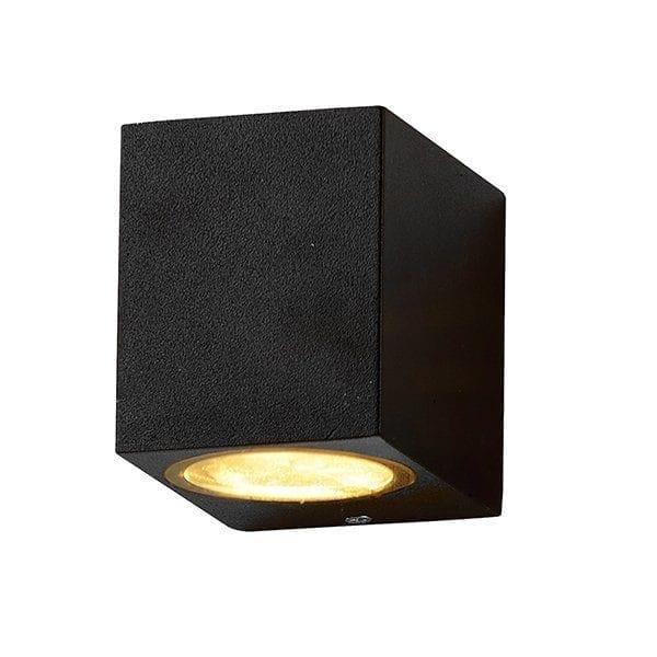 Zidna lampa 2 aluminij crna 1xGU10 IP54