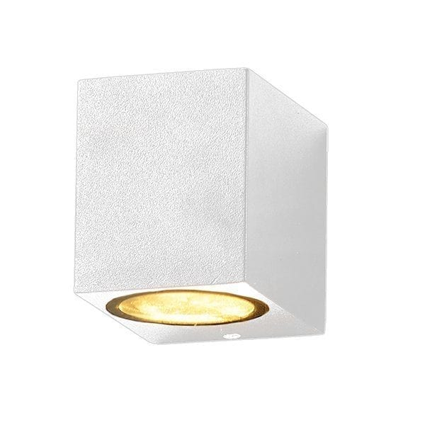 Zidna lampa 2 aluminij bijela 1xGU10 IP54