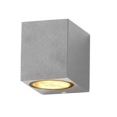 Zidna lampa 2 aluminij siva 1xGU10 IP54