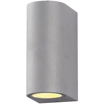 Zidna lampa aluminij siva 2xGU10 IP54