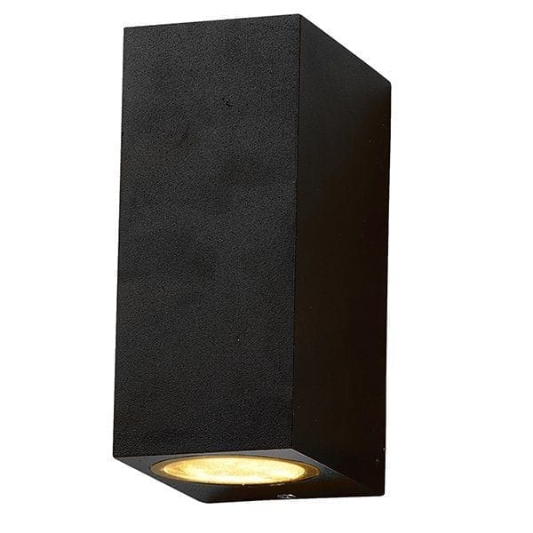 Zidna lampa 2 aluminij crna 2xGU10 IP54