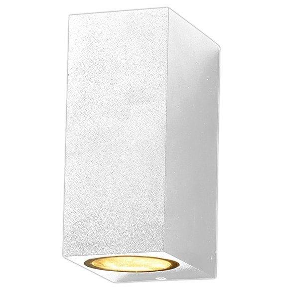 Zidna lampa 2 aluminij bijela 2xGU10 IP54