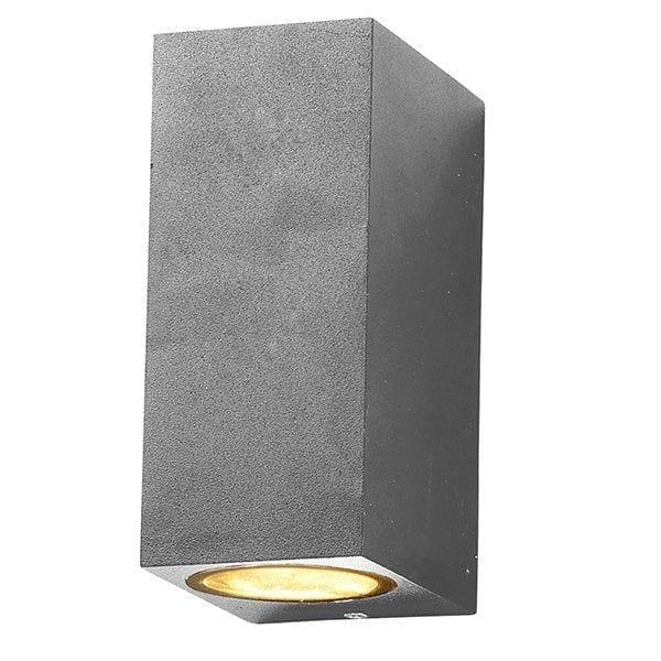 Zidna lampa 2 aluminij siva 2xGU10 IP54