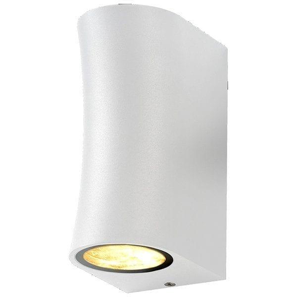 Zidna lampa 3 aluminij bijela 2xGU10 IP44