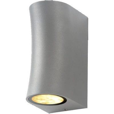 Zidna lampa 3 aluminij siva 2xGU10 IP44