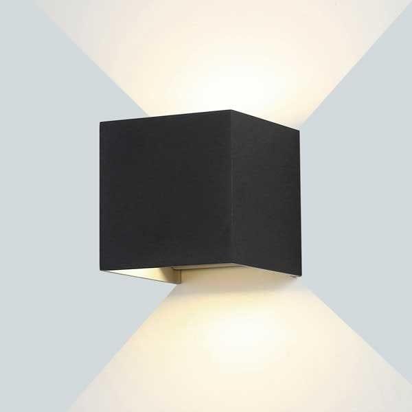 LED zidna lampa 12W 1320lm IP54, crna, 3000K