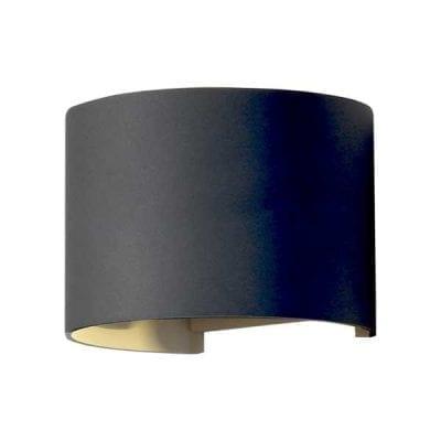 LED 2 zidna lampa 6W 660lm IP54, crna, 3000K