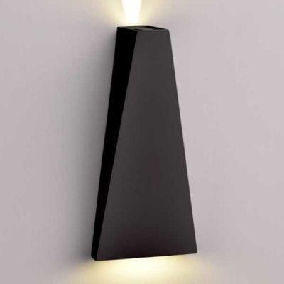 LED CREE zidna lampa 6W 660lm IP54, crna, 3000K