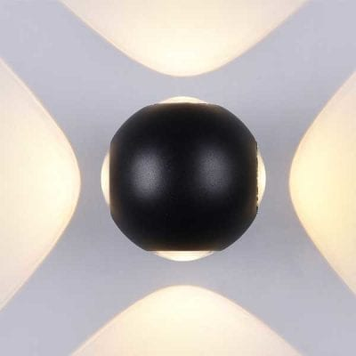 LED CREE zidna lampa 4W 660lm IP54, crna, 3000K