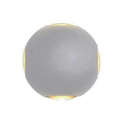 LED CREE zidna lampa 4W 660lm IP54, siva, 3000K