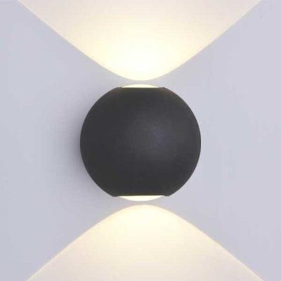 LED CREE 2 zidna lampa 6W 660lm IP54, crna, 3000K