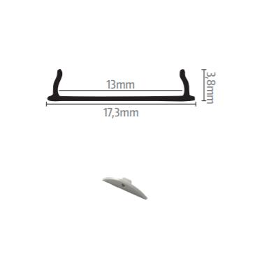 Profil za LED traku nadgradni 5 + mliječni poklopac, 2m