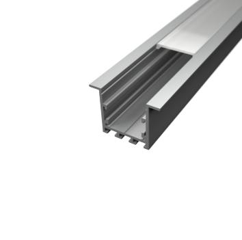Profil za LED traku ugradni 4 + mliječni poklopac, 2m